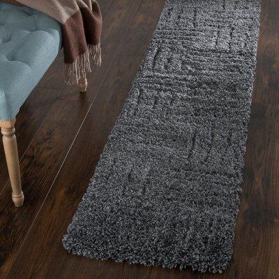 Millicent Dark Grey Area Rug Rug Size: Runner 18 x 7
