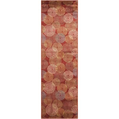 Minnie Red Wool Area Rug Rug Size: 7 9 x 10 10