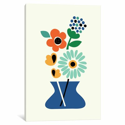Floral Time Graphic Art on Wrapped Canvas Size: 12