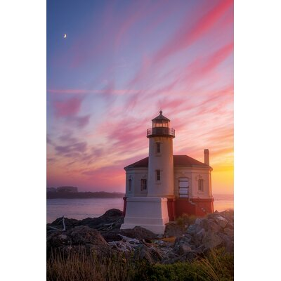 Lighthouse Moon Photographic Print on Wrapped Canvas Size: 12