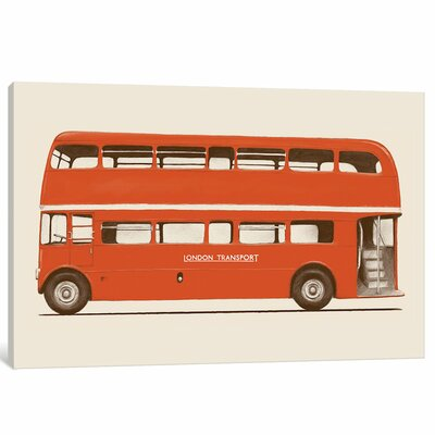 English Bus Original Painting on Wrapped Canvas