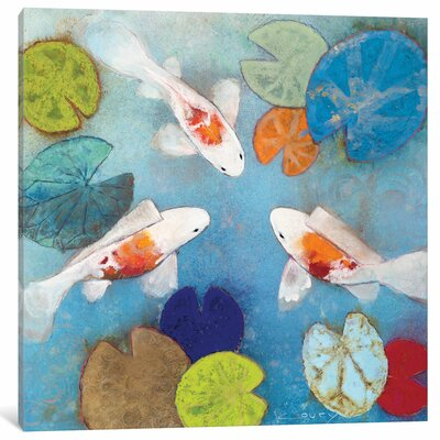 Koi II Painting on Wrapped Canvas Size: 12