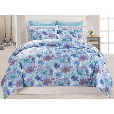 Nikki 10 Piece Comforter Set Size: Queen