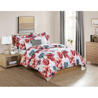 Payton 6 Piece Comforter Set Size: King