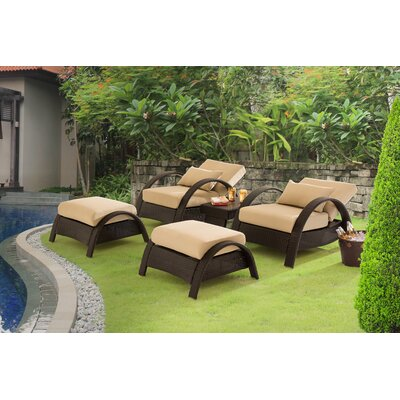 Nancy Relaxer 5 Piece Deep Seating Group with Cushion