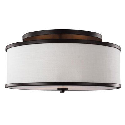 Nina 3-Light Semi-Flush Mount Finish: Rubbed Bronze