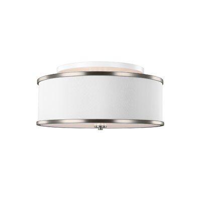 Nina 3-Light Semi-Flush Mount Finish: Nickle