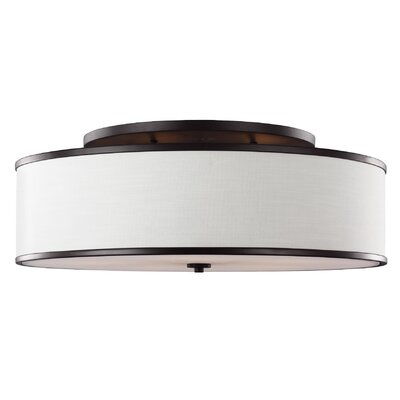 Nina 5-Light Semi-Flush Mount Finish: Rubbed Bronze