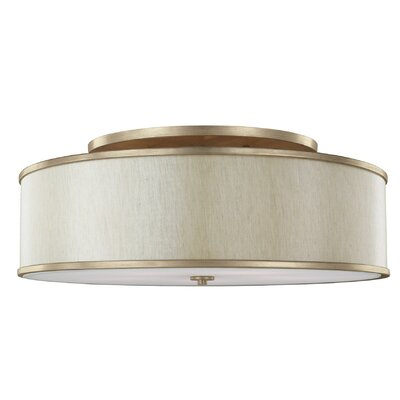Nina 5-Light Semi-Flush Mount Finish: Gold
