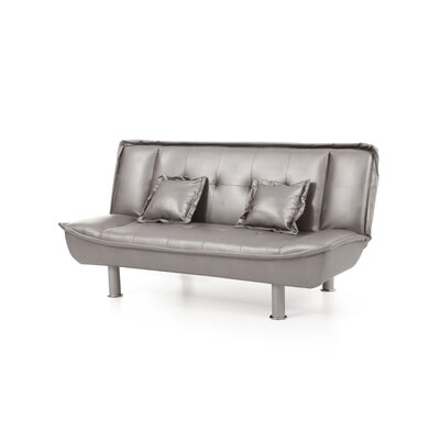 Lalani Modern Convertible Sofa Upholstery: Antique Gray Faux Leather