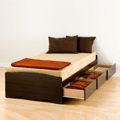 Valerio Extra Long Twin Platform Bed with Storage Finish: Espresso