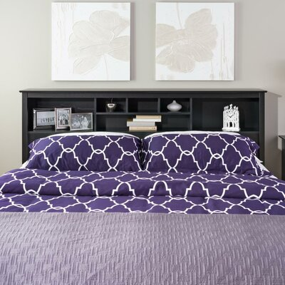 Wanda King Bookcase Headboard Color: Black