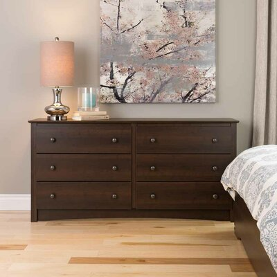 Penelope 6 Drawer Double Dresser