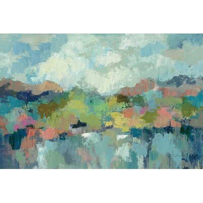 Abstract Lakeside Painting Print on Wrapped Canvas Size: 12
