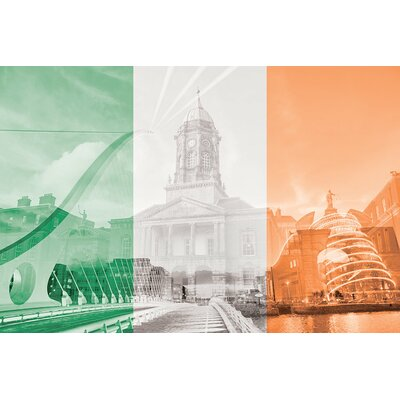 The Fair City - Dublin Graphic Art on Wrapped Canvas Size: 12