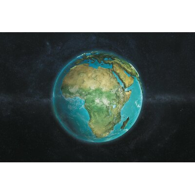 The Globe Series: A Physical View of Africa Graphic Art on Wrapped Canvas