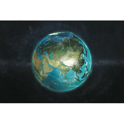 The Globe Series: A Physical View of Asia Graphic Art on Wrapped Canvas Size: 12