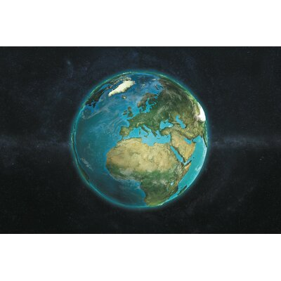 The Globe Series: A Physical View of Europe Graphic Art on Wrapped Canvas Size: 12