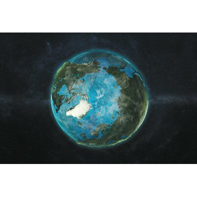 The Globe Series: A Physical View of The Arctic Graphic Art on Wrapped Canvas Size: 12