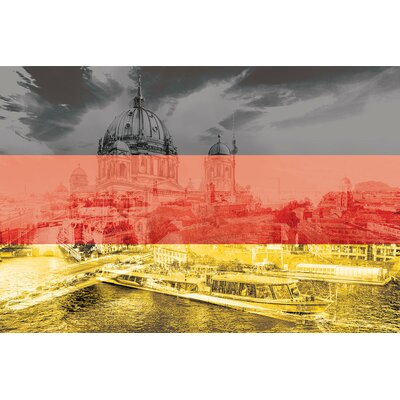 The Grey City - Berlin Graphic Art on Wrapped Canvas