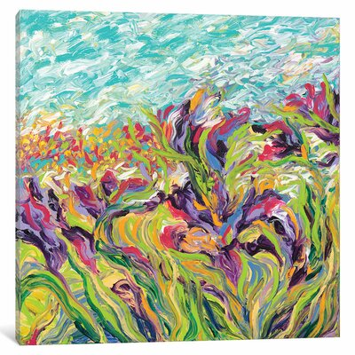 Iris Scott - Irises I Painting Print on Wrapped Canvas Size: 12
