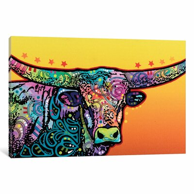 The Longhorn Graphic Art on Wrapped Canvas