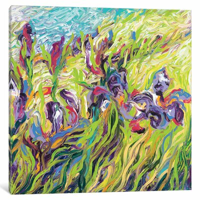 Iris Scott - Irises II Painting Print on Wrapped Canvas Size: 12