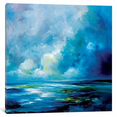 Blue Velvet Original Painting on Wrapped Canvas