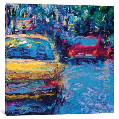 Iris Scott - Yellow Volvo Painting Print on Wrapped Canvas Size: 12