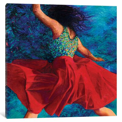 Red Skirt Painting Print on Wrapped Canvas