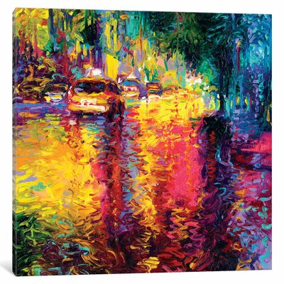 Taxi Jungle Painting on Wrapped Canvas