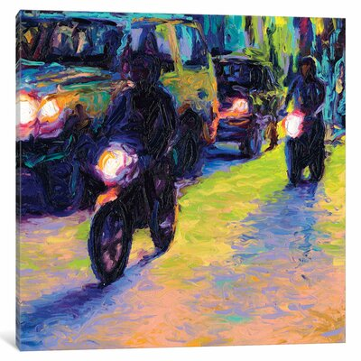 Iris Scott - Two Motorcycles Painting Print on Wrapped Canvas Size: 12
