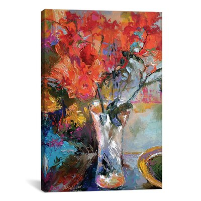 Flowers in Vase Graphic Art on Wrapped Canvas
