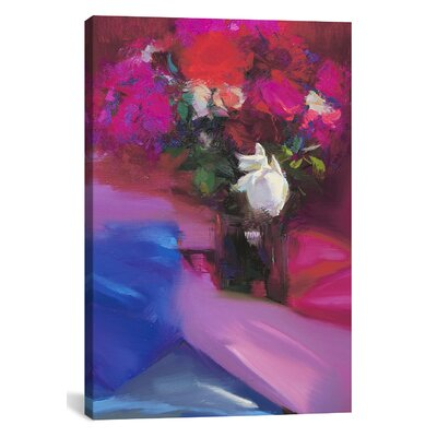 Roses for Red #2 Graphic Art on Wrapped Canvas Size: 12