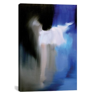Latitude Run Silver in Blue Graphic Art on Wrapped Canvas
