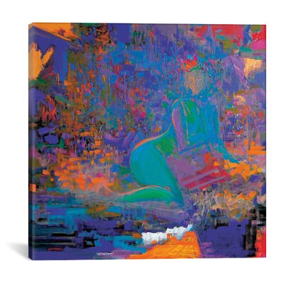 Folk Night Painting Print on Wrapped Canvas