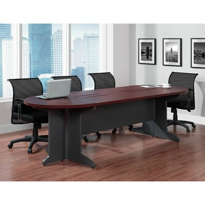 Elizabeth Oval Conference Table Size: 12 L, Color: White/Grey
