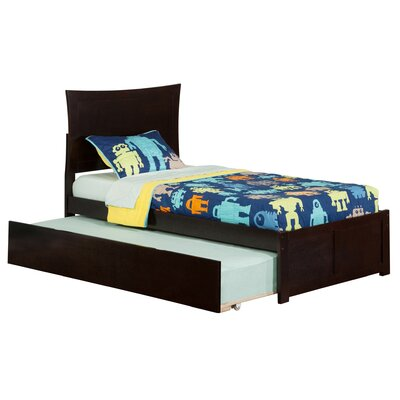 Amy Twin Panel Bed with Trundle Finish: Espresso