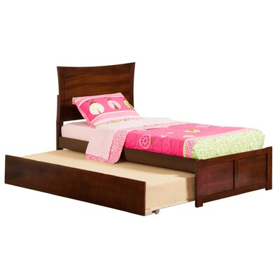 Amy Twin Platform Bed with Trundle Finish: Antique Walnut