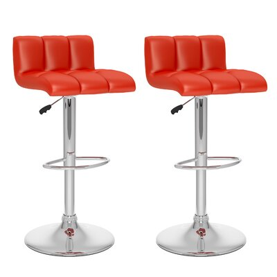 Andres Adjustable Height Swivel Bar Stool