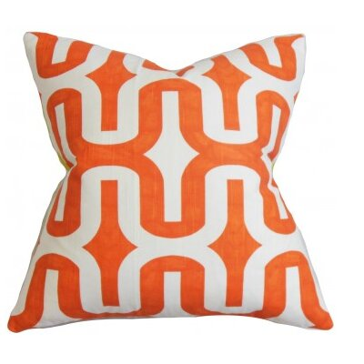 Suzanne Cotton Throw Pillow Cover Color: Orange, Size: 20 H x 20 W