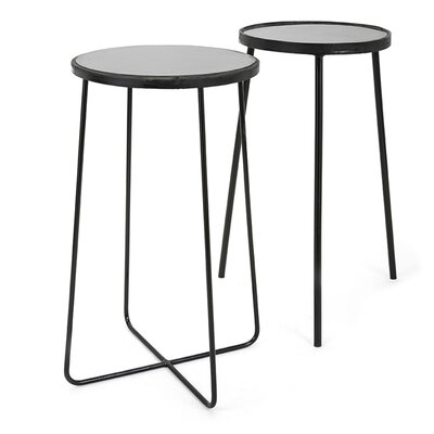 Serena 2 Piece Iron End Table Set