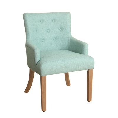 Myrtle Tufted Armchair Finish: Carribean Blue