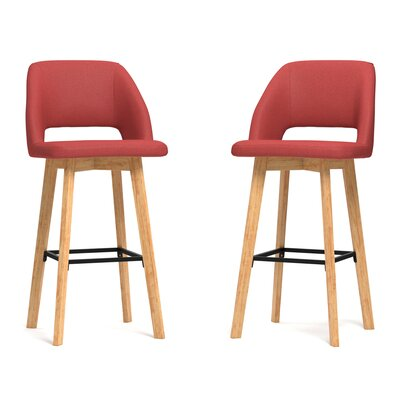 Viola 30 Bar Stool Upholstery: Sunrise Red