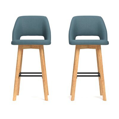 Viola 30 inch Bar Stool Upholstery: Blue