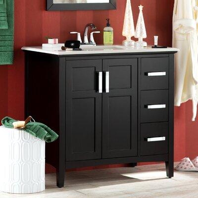 Knudsen 37 Single Bathroom Vanity Set Base Finish: Black