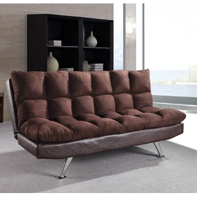 Hertford Convertible Sofa Upholstery: Chocolate / Brown