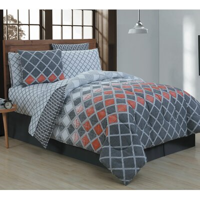 Haberfield 8 Piece Bed-In-a-Bag Set Size: Queen, Color: Spice