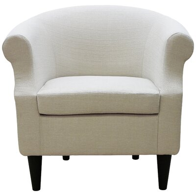 Marsdeni Barrel Chair Upholstery: Stallion Ivory