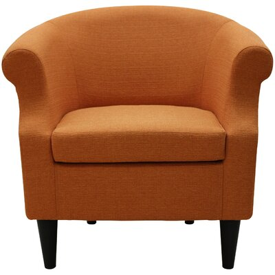 Marsdeni Barrel Chair Upholstery: Stallion Orange